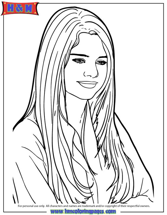 Selena Gomez Coloring Pages Coloring Pages Color Selena Gomez