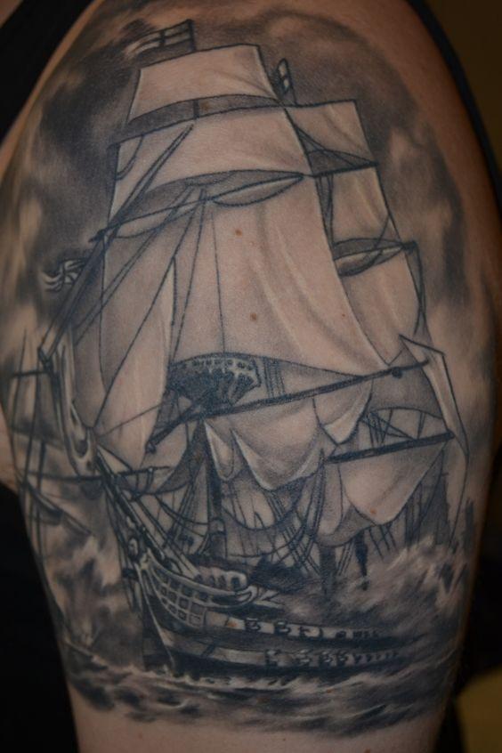 HMS victory ship arm t...
