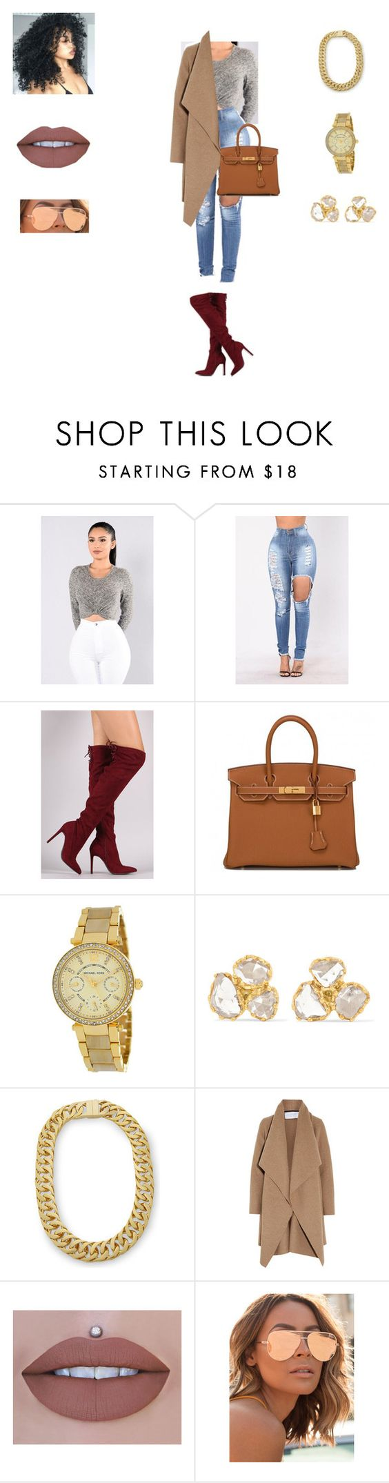 """Tiffany"" by jbell13 on Polyvore featuring Hermès, Michael Kors, Pippa Small, AMBUSH, Harris Wharf London and Quay"