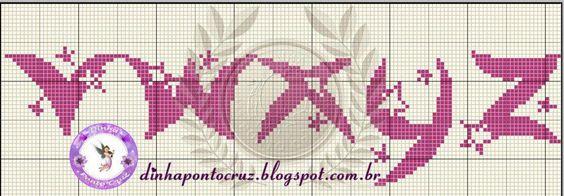 Monograma com estrelas minusculo do V ao Z