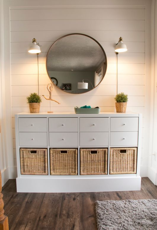 Budget Ikea Hack Entry Table And Entryway Organization Ikea