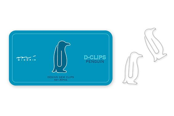 Penguin paperclips I need these!