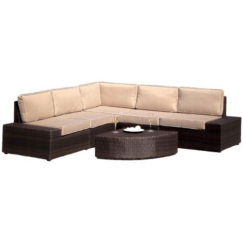 Cane Sofa Amazon: Best Selling Say Brook PE Wicker Sofa Set Best Selling