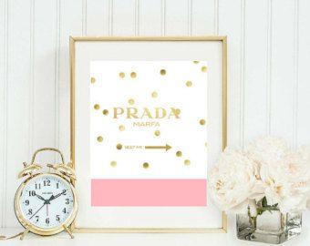 Prada Marfa Kate Spade inspired Printable von GirlsstuffDesigns