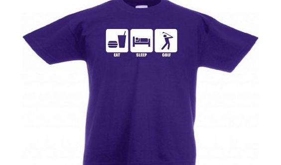 Loopyparrot Eat sleep golf kids childrens 3-13 years T-shirt 172 - Purple - 9/11 years T-shirts are fruit of the loom and design is created with vinyl to ensure a quality product that lasts. (Barcode EAN = 5055824829875). http://www.comparestoreprices.co.uk//loopyparrot-eat-sleep-golf-kids-childrens-3-13-years-t-shirt-172--purple--9-11-years.asp