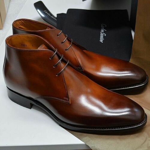 Leather chukka boots, Dress shoes men