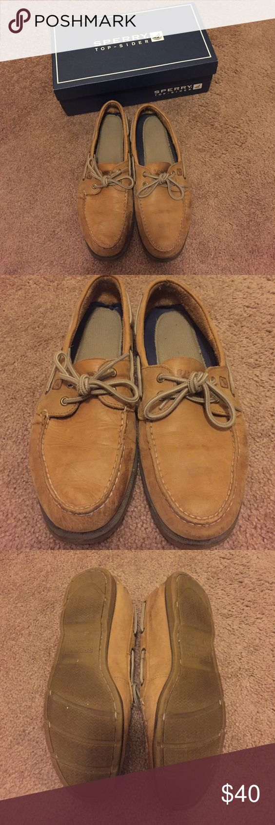 Men's Sperrys Brown men's sperrys. Slightly worn. Comes with the box. Leave me an offer! ☺️ Sperry Top-Sider Shoes Flats & Loafers