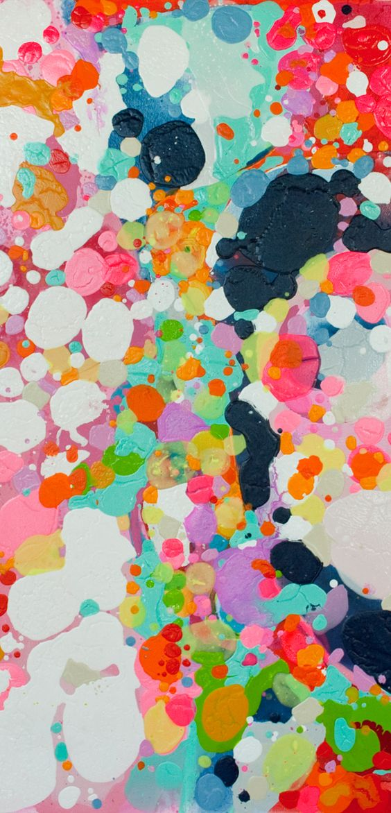 color + drops 'n' drips: Cake Claire, Desjardins Clear, Paint Splatter, Desjardins Mixed, Abstract Art, Colorful Paintings, Splatter Painting, Easy Painting, Happy Color