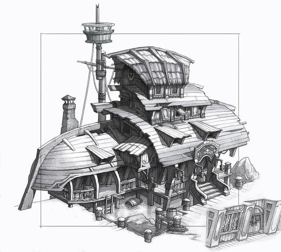 Pirate House Scene (Artyom Vlaskin concept) - Polycount Forum
