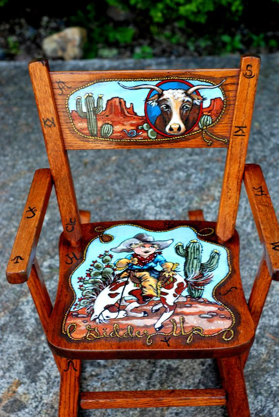 Rocking Chairs Hand Painted And Childs Rocking Chair On