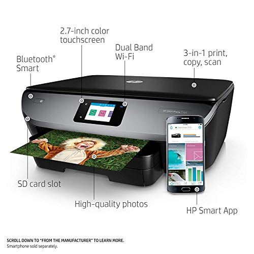 Wireless Printer All In One HP Envy Copier Scanner Photo Document WiFi Bluetooth