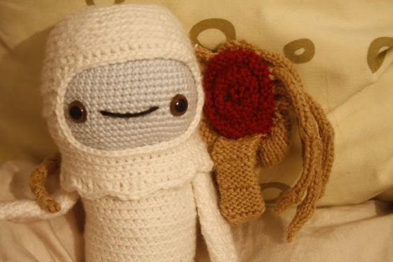 alien face-hugger avec pattern!
