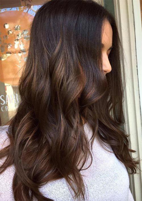 15 Winter Hair Color Ideas For Women 2018 Mocha Hair Mocha Color Hair Winter Hairstyles