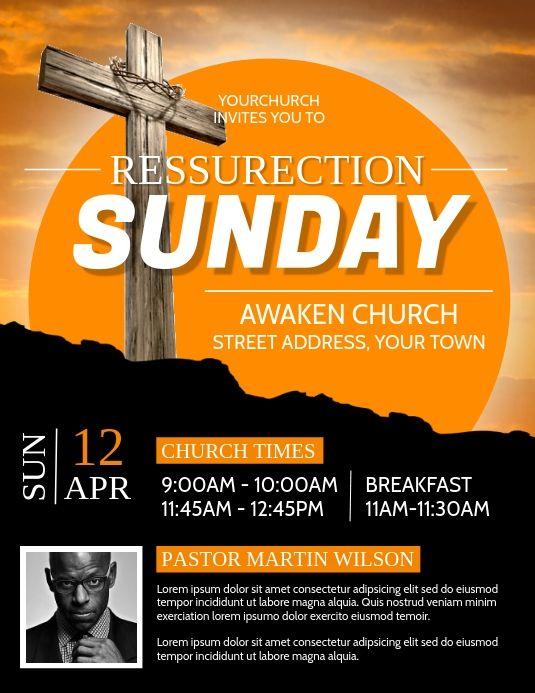 Church Resurrection Flyers Church Easter Service Flyers Church