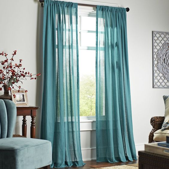 Quinn Sheer Curtain Teal Pier 1 Imports Home Decorating Pinterest Teal Curtains Teal