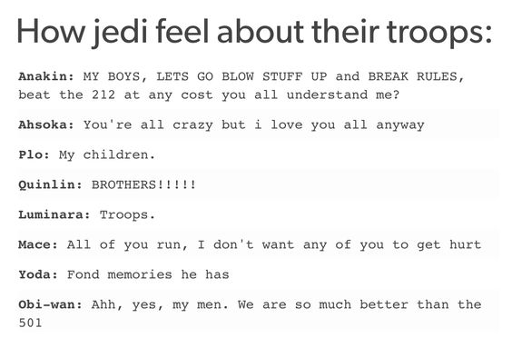 Jedi & Clones: a Star Wars story (Aw yes, my men. We are so much better than the 591st)