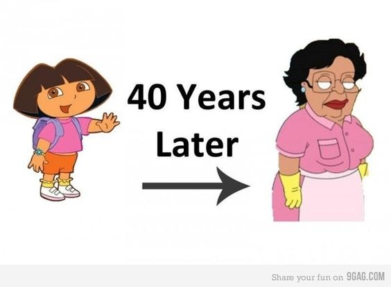 We don't watch Dora in our house, but Family Guy is just fine.