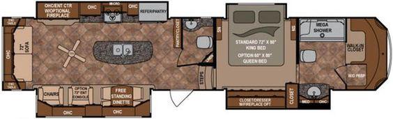 Dutchmen rv bathroom and fifth wheel on pinterest - Infinity fifth wheel front living room ...