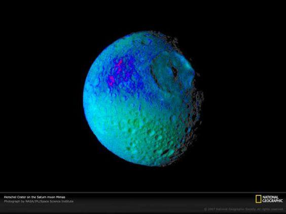 Mimas, la luna de Saturno