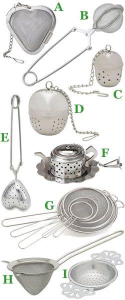 Choosing the Right Tea Infuser/Strainer http://blog.englishteastore.com/2014/09/02/choosing-the-right-infuserstrainer/