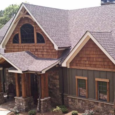Spaces exterior house painting brown rustic design pictures remodel decor and ideas page 23 - House painting exterior ideas plan ...