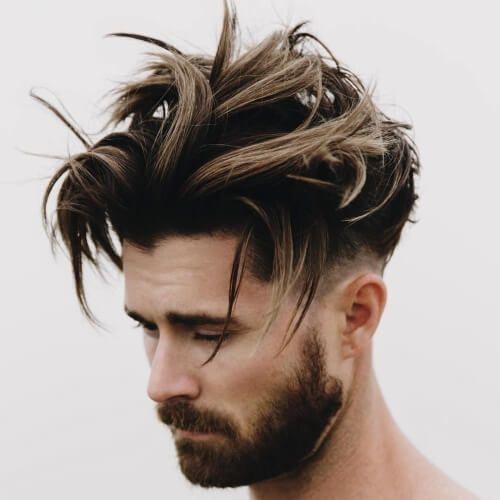 Peinados en cabello largo para hombres