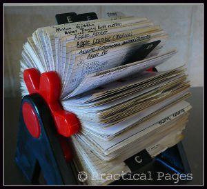 rolodex recipe card holder