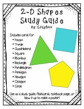 Includes cards for: • Polygon • Triangle • Quadrilateral • Square ...