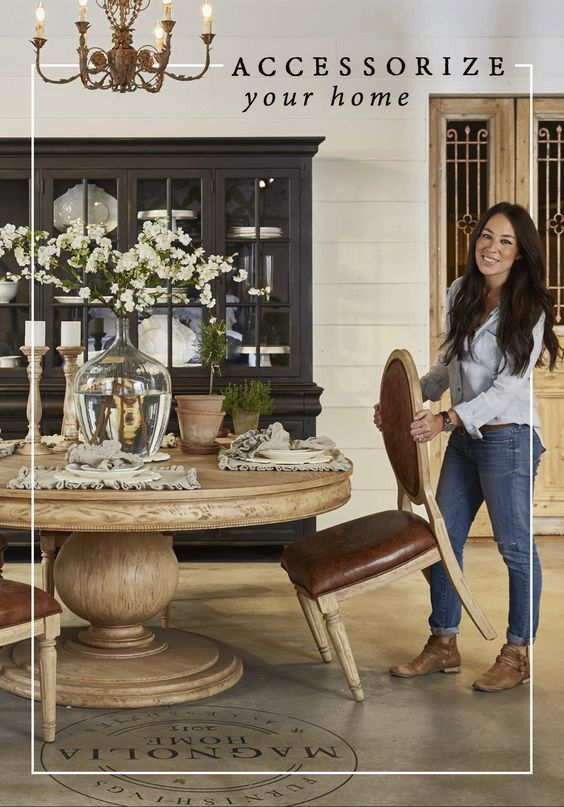 Accessorize your home with joanna 39 s line of accessories for Round dining room table centerpiece ideas