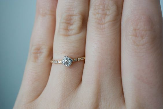 Darling Old Euro Diamond Engagement Ring by S. Kind & Co.