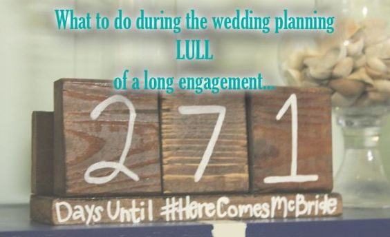 Long Engagement?  See how to stay productive #weddingbee