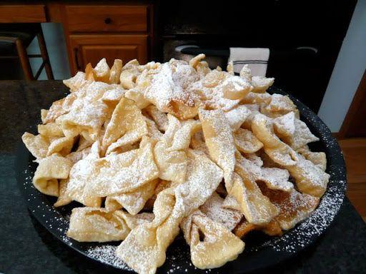 Polish Bow Cookies Kruschiki Or Chruschiki Recipe Recipe Chrusciki Recipe Polish Recipes Food