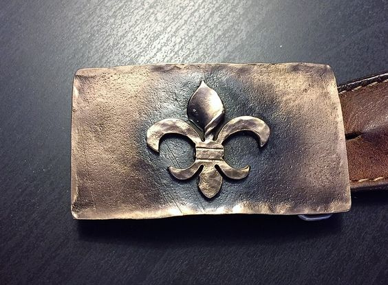 fleur de lis belt buckle  New Orleans Louisiana