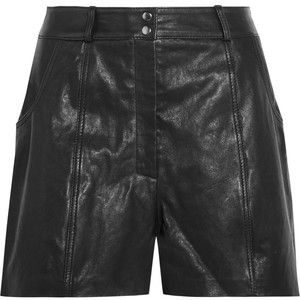 Maje Leather shorts: