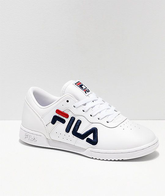 FILA Original Fitness White & Red Shoes | Zapatillas fila ...