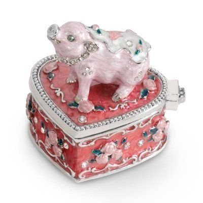 Personalized pig jewelry box gift by things remembered for Things remembered jewelry box