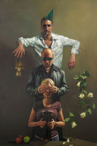 EAGER HANDS, MEAGRE HEARTS Oil on Canvas 153 x 102 cm
