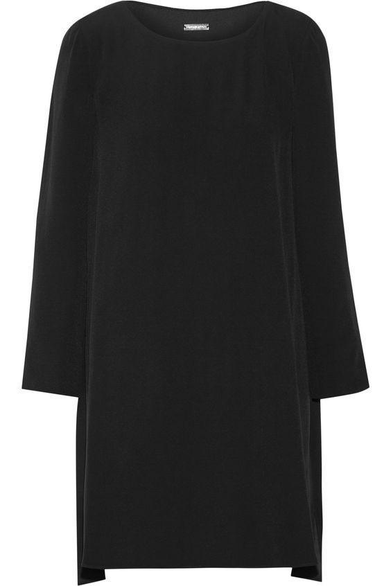 ADAM LIPPES Pleated Crepe Mini Dress. #adamlippes #cloth #dress