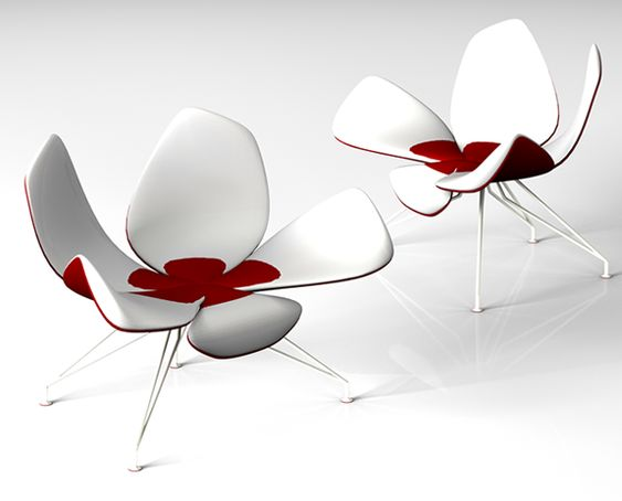 chairs furniture and flower on pinterest