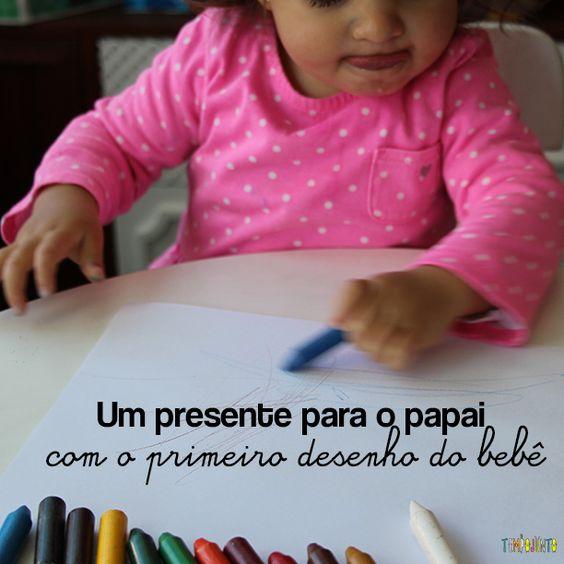 O dia dos pais está chegando. Que tal aproveitar o desenho do bebê e fazer um lindo marcador de livro de presente para o papai?