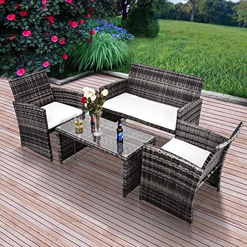 Amazing Offer On Gojooasis Outdoor Patio Furniture Wicker Rattan
