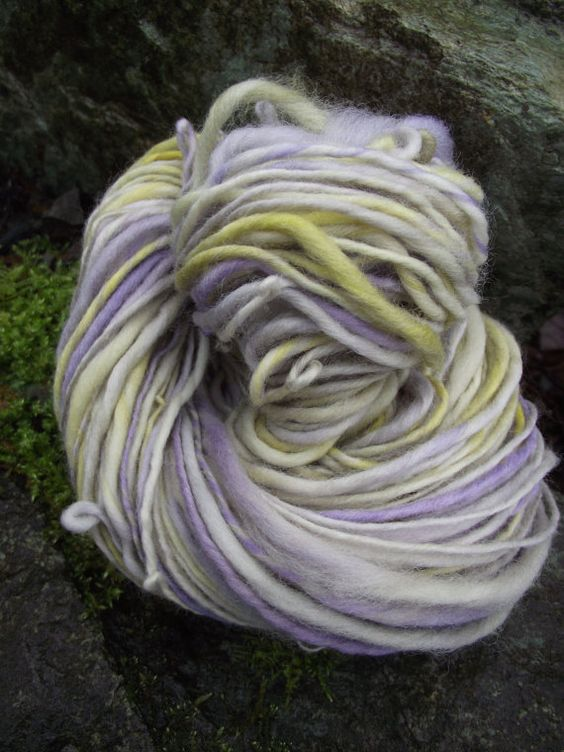 Handspun yarn Hand painted hand dyed Organic Polwarth by Yarnarchy