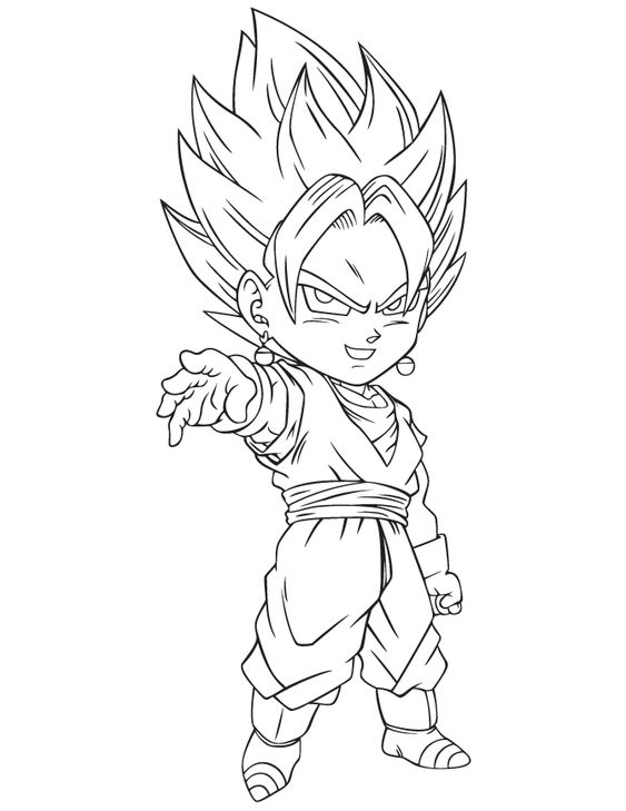 Pin By Joshua Garcia On Draw Vegetto Fusion Dragon Coloring Page Cartoon Coloring Pages Dragon Drawing