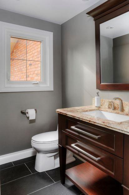 Bathroom walls: Thunder AF-685. Houzz.com
