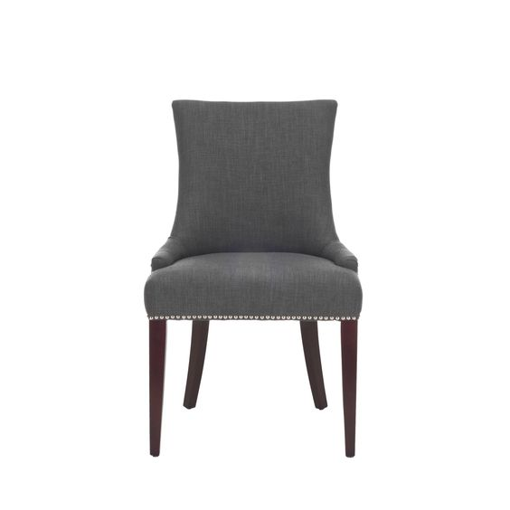 ... nailhead dining linen dining and more chairs grey dining chairs