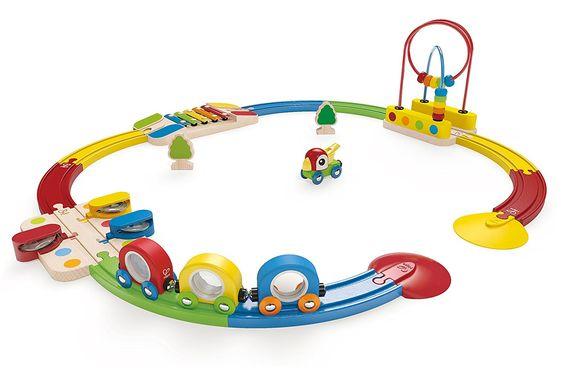 Amazon.com: Hape - Rainbow Railway Train Set: Toys & Games
