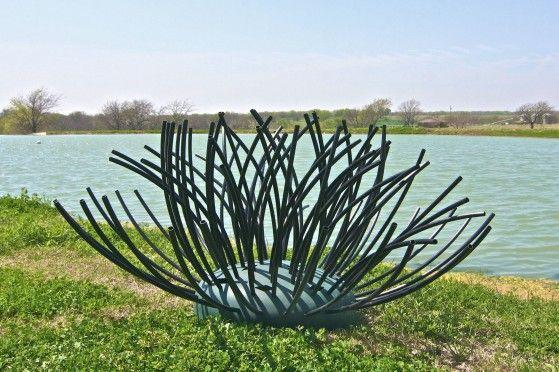 Pond king 39 s honey hole shrub artificial habitat fishin for Bass pond design