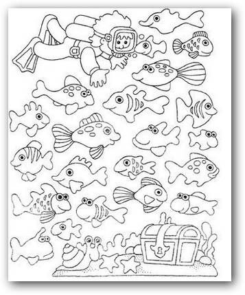 Moderno Mar Para Colorear Páginas Para Niños Viñeta - Páginas Para ...