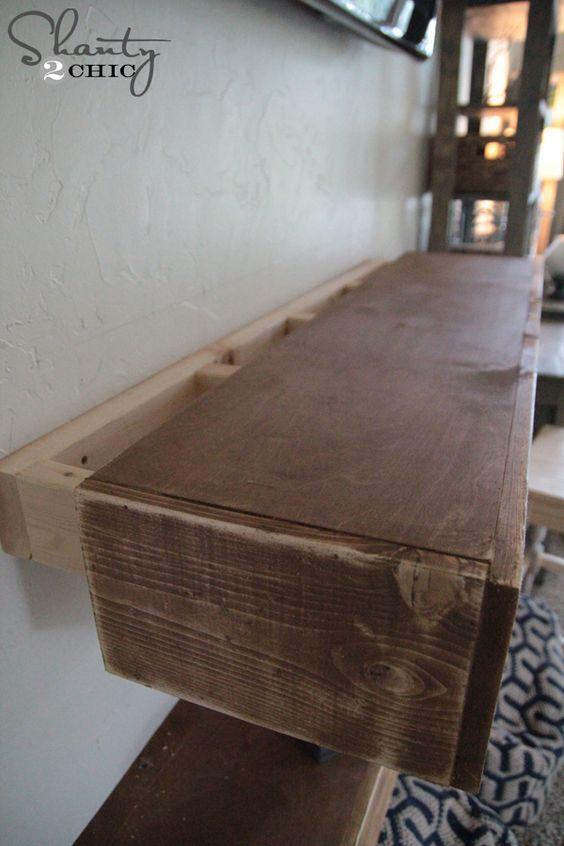 Building floating shelves http://www.shanty-2-chic.com/2014/11/diy-media-shelves.html
