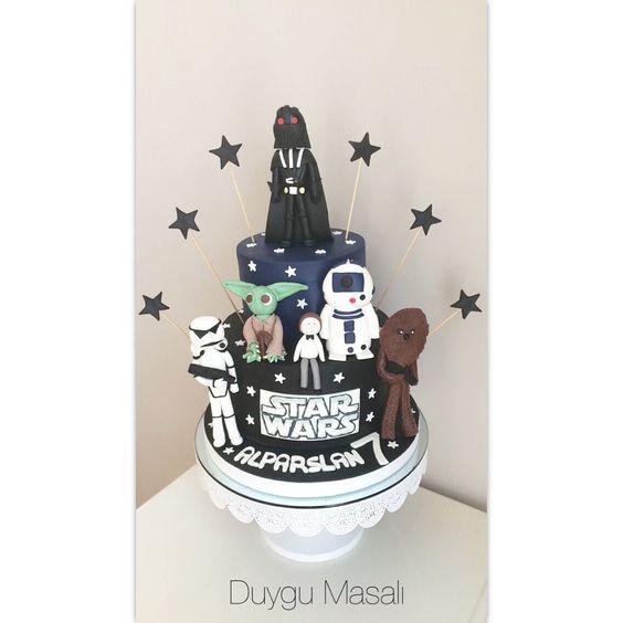 Alparslan 7 Yaşında! Star Wars vazgeçilmezimiz oldu  www.duygumasali.com #starwars #starwarscake #starwarslove #cake #cakedesign #pasta #doğumgünü #dogumgunupastasi #starwarspasta #duygumasali #cocukdogumgunupastasi